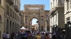 The Arch in Piazza della Repubblica Stock Footage