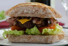 italien burger - stock photo