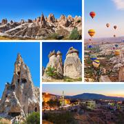 Collage of Cappadocia Turkey images - stock photo