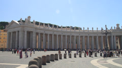 Colonnades in St Peter's Square Stock Footage