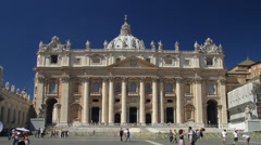 Close up of St. Peter's Basilica Stock Footage