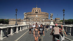 Castel Sant Angelo Stock Footage