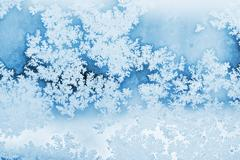 winter rime background - stock photo