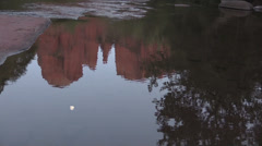 Cathedral Rock Reflection Sedona Arizona - stock footage