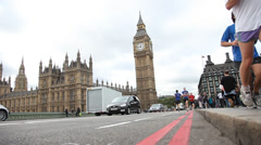 London  overview Big Ben Stock Footage