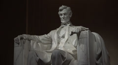 Zoom Out, Abe Lincoln, night 4k Stock Footage
