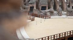 Battle arena slide shot Stock Footage