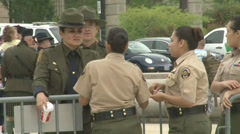 U.S. Customs and Border Patrol's Explorers  Stock Footage