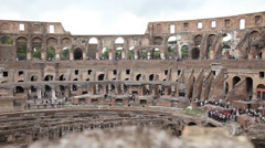 Colosseum life story architecture Stock Footage