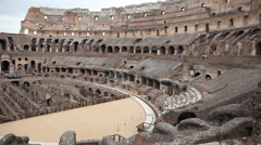 Colosseum life story Stock Footage