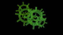 Machinery Gears Spinning Stock Footage