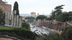 Rome view Stock Footage