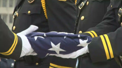 American Flag folding ceremony Stock Footage