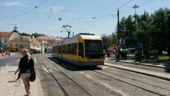 Tram Passing Trought Stock Footage