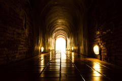 Light at End of Tunnel Stock Photos