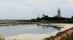 Samouco Salt Production Stock Footage
