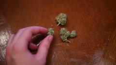 Medical marijuana weed Stock Footage