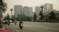 Downtown china traffic time lapse Stock Footage