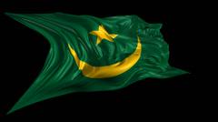 Flag of Mauritania Stock Footage