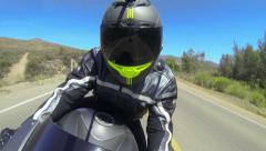 POV Man Riding Motorcycle - stock footage