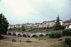 a town history in Tuscany Italy - stock photo