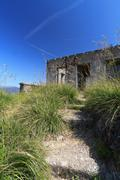 Ww2 fortification - vertical composition Stock Photos