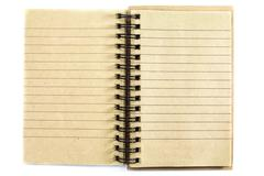 notebook with lined - stock photo