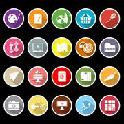 Hobby icons with long shadow Stock Illustration
