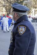 City of new york policeman overlooking 2013 Macy's parade Stock Photos