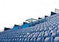 Jalkapallostadionilla. Kuvituskuvat