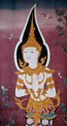 Buddhist murals - stock photo