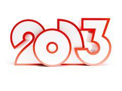 new year 2013 - stock illustration