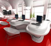 Workplace at modern office Stock Illustration