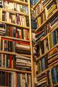 Stock Photo of Secondhand bookstore shelves corner