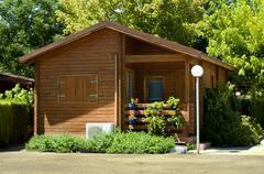 Wooden bungalow Stock Photos