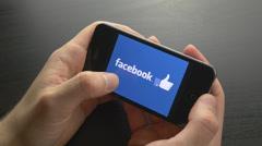 4K Social Media Logos Browsing Smartphone Touchscreen Stock Footage