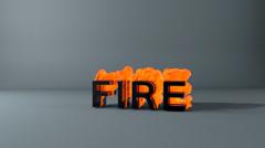 Fire-smoke-text Stock Footage