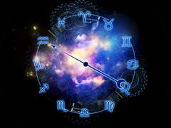 Zodiac universe Stock Illustration