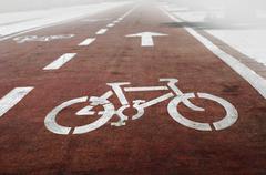 Bike lanes Stock Photos