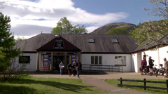 GLEN NEVIS VISITOR CENTRE Stock Footage