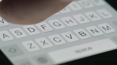 4K Texting Finger Keyboard Smartphone Stock Footage