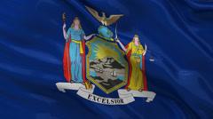US state flag of New York - seamless loop Stock Footage
