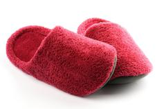 Magenta Slippers Confuse - stock photo