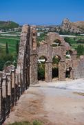 Aqueduct at Aspendos in Antalya Turkey Stock Photos