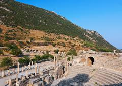 Ancient amphitheater in Ephesus Turkey Stock Photos