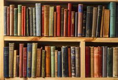 Second-hand bookstore shelfs  Stock Photos