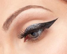 Eyes make-up, eyeliner Stock Photos