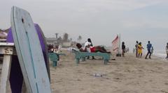 Labadi beach, Ghana Stock Footage