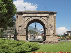 Arch of August Aosta - stock photo