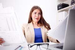 Business woman amazed Stock Photos